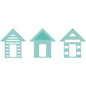 Kaisercraft: Beach Houses - Kaisercraft Die, 3/Pkg