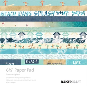 Kaisercraft: Summer Splash Paper Pad, 40/Pkg