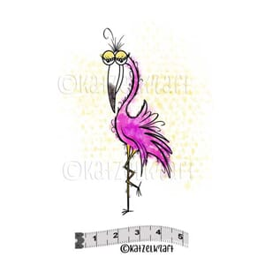 Katzelkraft: Flamingo Rubberstamps, 1/Pkg