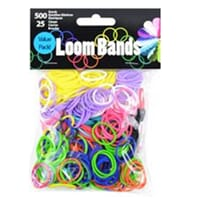 Loom Bands - Primary Ass., 500 stk + 25 klips