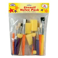 Stencil Brush Value Pack - stubbepensler 25/Pk