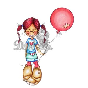 LDRS: Balloon Wishes - Rubber Stamps