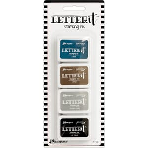 Ranger: #1 - Letter It Stamping Ink Set, 4/Pkg
