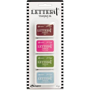 Ranger: #2 - Letter It Stamping Ink Set, 4/Pkg
