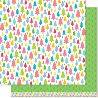 Lawn Fawn: Pine Tree Green - Really Rainbow Christmas