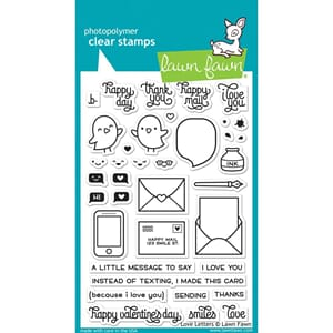Lawn Fawn: Love Letters Clear Stamps, 4x6 inch
