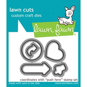 Lawn Fawn: Push Here - Lawn Cuts Custom Craft Die