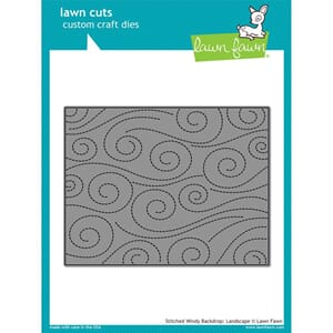 Lawn Fawn: Stitched Windy Backdrop Lawn Cuts Die