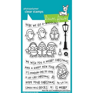 Lawn Fawn: Here We Go A-Waddling Clear Stamps, 4x6 inch