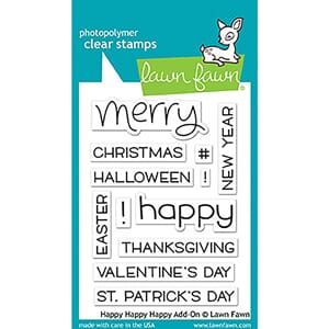 Lawn Fawn: Happy Happy Happy Clear Stamps, 3x4 inch