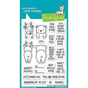 Lawn Fawn: For You, Deer Clear Stamps, 4x6 inch