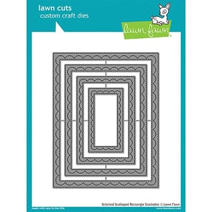 Lawn Fawn: Outside In Stitched Scalloped Rectangle Lawn die
