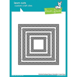 Lawn Fawn: Outside In Stitched Scalloped Square - Lawn Die