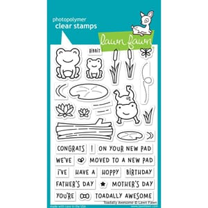 Lawn Fawn: Toadally Awesome Clear Stamps, 4x6