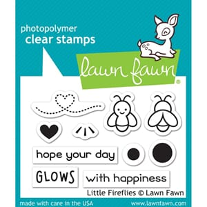 Lawn Fawn: Little Fireflies Clear Stamps 3x2 inch