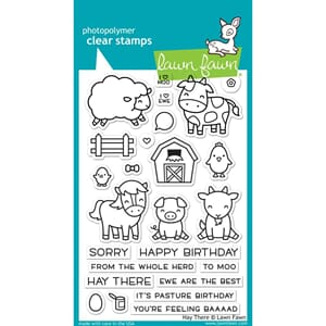 Lawn Fawn: Hay There - Clear Stamps, 4x6 inch