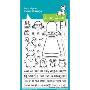 Lawn Fawn: Beam Me Up - Clear Stamps, 4x6 inch