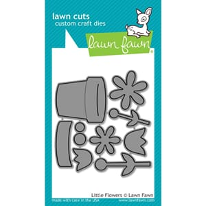 Lawn Fawn: Little Flowers Lawn Cuts Custom Craft Die