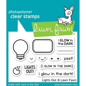 Lawn Fawn: Lights Out Clear Stamps, 3x2 inch
