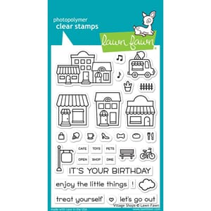Lawn Fawn: Village Shops Clear Stamps, 4x6 inch