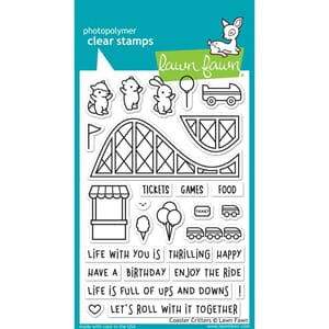 Lawn Fawn: Coaster Critters Clear Stamps, 4x6 inch