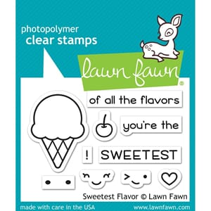 Lawn Fawn: Sweetest Flavor Clear Stamps, 3x2 inch