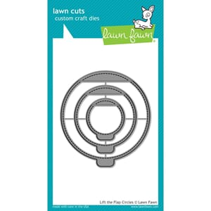 Lawn Fawn: Lift The Flap Circles Lawn Cuts dies