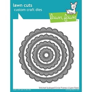 Lawn Fawn: Stitched Scalloped Circle Frames Lawn Cuts Die