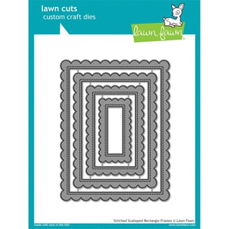 Lawn Fawn: Stitched Scalloped Rectangle Frames dies