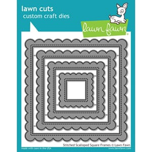 Lawn Fawn: Stitched Scalloped Square Frames dies
