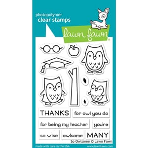 Lawn Fawn: So Owlsome Clear Stamps, 3x4 inch