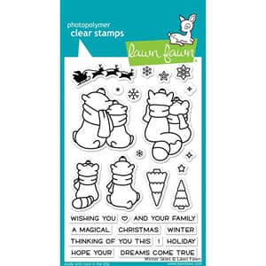 Lawn Fawn: Winter Skies Clear Stamps, 4x6 inch