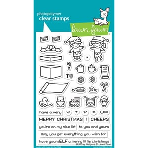 Lawn Fawn: Holiday Helpers Clear Stamps, 4x6 inch