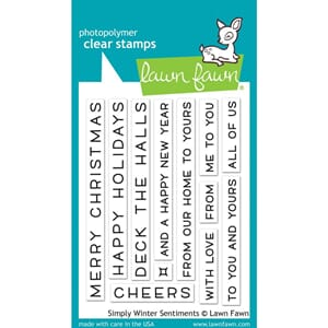Lawn Fawn: Simply Winter Sentiments Clear Stamps, 3x4 inch