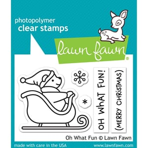 Lawn Fawn: Oh What Fun Clear Stamps, 3x2 inch