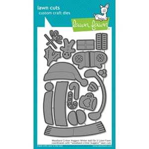 Lawn Fawn: Woodland Critter Huggers Winter Add-On Craft Die