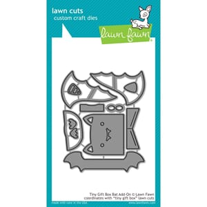 Lawn Fawn: Tiny Gift Box Bat Add-On Cuts Custom Craft Die