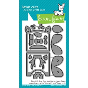 Lawn Fawn: Tiny Gift Box Deer Add-On Cuts Custom Craft Die