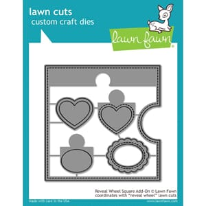 Lawn Fawn: Reveal Wheel Square Add-On Craft Die