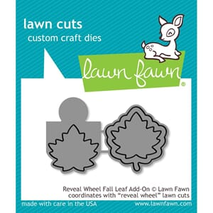 Lawn Fawn: Reveal Wheel Fall Leaf Add-On Craft Die