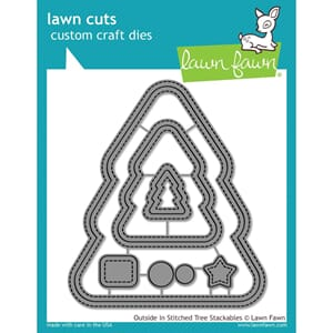 Lawn Fawn: Outside In Stitched Christmas Tree Craft Die
