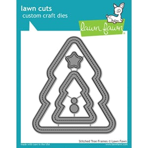 Lawn Fawn: Stitched Christmas Tree Frames Craft Die