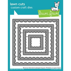 Lawn Fawn: Reverse Stitched Scalloped Square Window Die