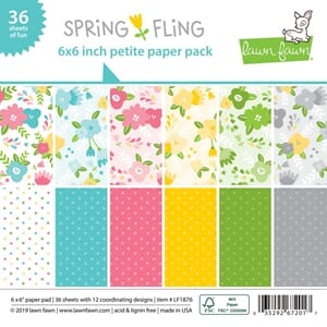 Lawn Fawn: Spring Fling Double-Sided Collection Pack, 36/Pkg