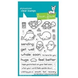 Lawn Fawn: Get Well Before n After Clear Stamps, 4x6 inch
