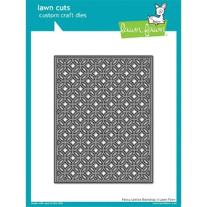 Lawn Fawn: Fancy Lattice Backdrop Lawn Cuts Custom Craft Die