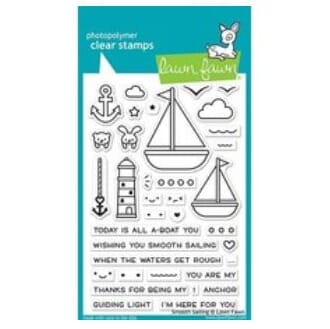 Lawn Fawn: Smooth Sailing Clear Stamps, 4x6 inch