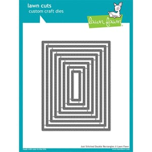 Lawn Fawn: Just Stitching Double Rectangles Dies, 4x6 inch