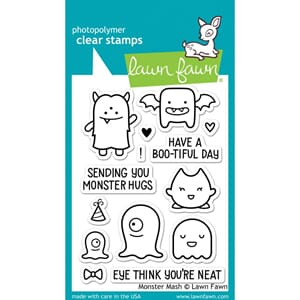 Lawn Fawn: Monster Mash Clear Stamps, 3x4 inch