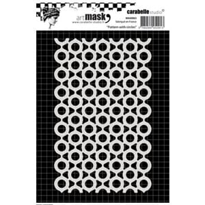 Carabelle - Pattern with circles stencil